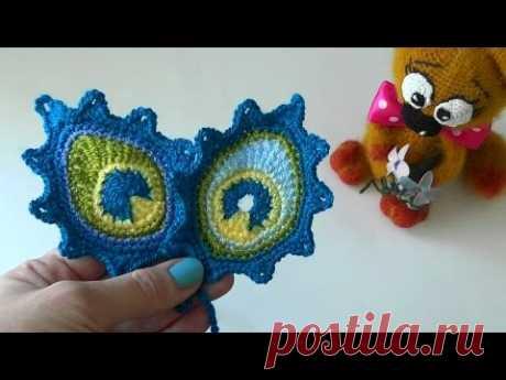 Как связать перо павлина крючком/мк toy-fabric - YouTube