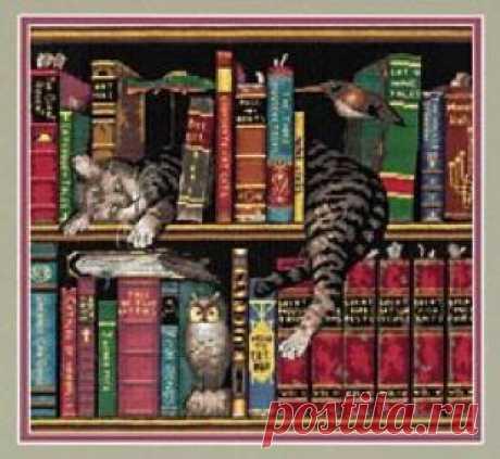 Кот ученый - Кошки - Фауна - СХЕМЫ - ВЫШИВКА КРЕСТОМ