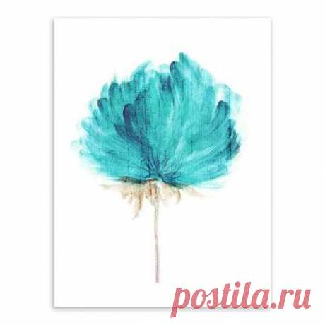 Amazon.com: ink2055 Watercolor Flower Canvas Wall Painting Modern Living Study Room Art Decor: Paintings