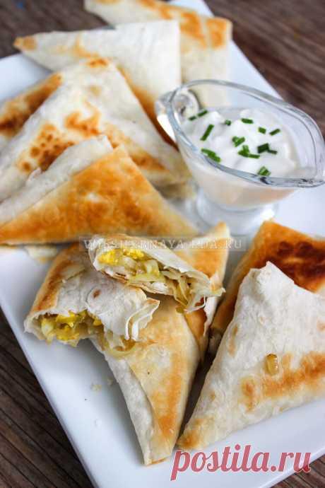 Пирожки из лаваша с капустой и яйцом на сковороде | Волшебная Eда.ру