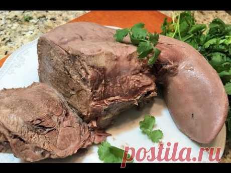ГОВЯЖИЙ ЯЗЫК. Как вкусно приготовить и почистить за 1 минуту. Beef tongue/ How delicious to cook.
