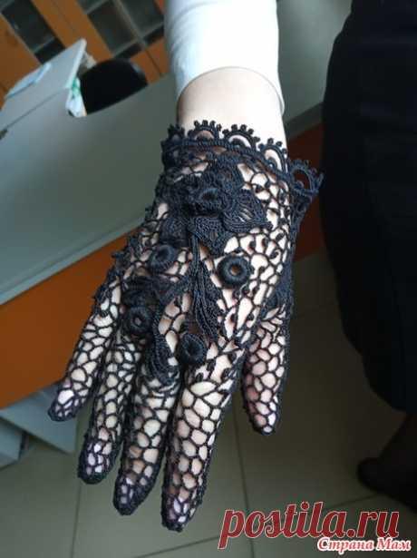 Винтажные черные перчатки - Вязание - Страна Мам