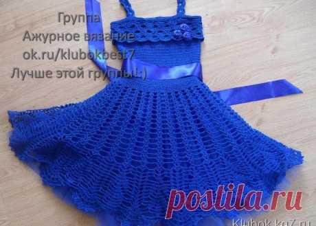 Платье крючком | Клубок