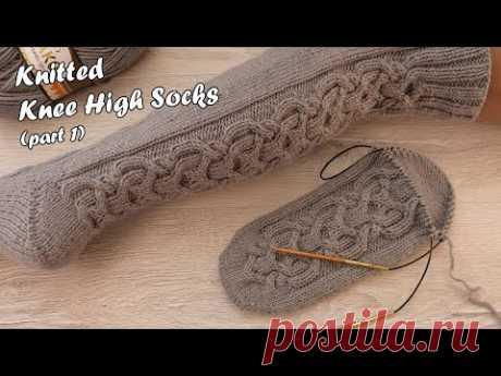 Носки – гольфы вязаные от мыска 🧦 - часть 1 | Knitted Knee High Socks 🐭 - part 1
