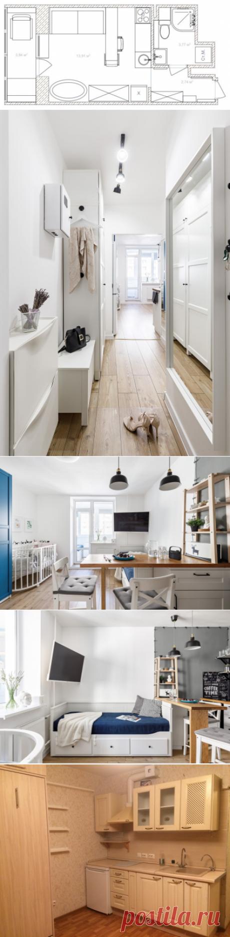 До и после: Студия 20 кв.м — для семьи с малышом | Houzz Россия