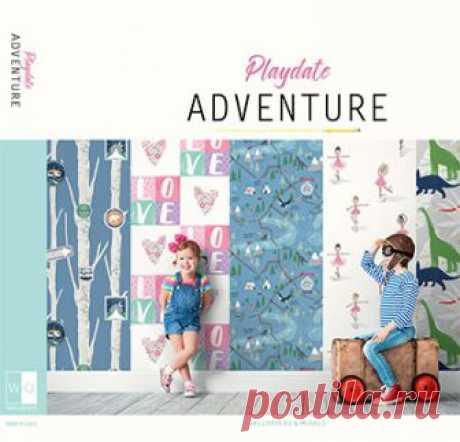 Обои для стен FA40604 Playdate Adventure Wallquest производитель США