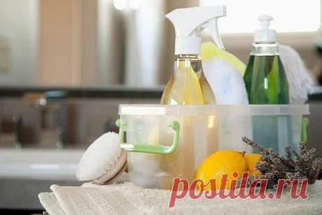 7 уникальных рецептов безопасных чистящих средств.   ДОМАШНИЙ ОЧАГ