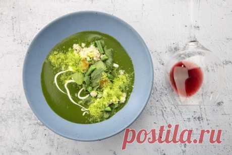 Крем-суп из шпината с кус-кусом и гороховой пылью рецепт – турецкая кухня: супы. «Еда»