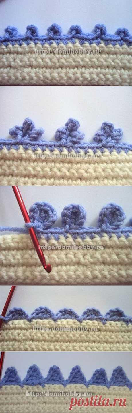 """Вязание """"пико"""" крючком разных видов/ Вязание крючком и спицами, модели и схемы с описанием, вышивка крестиком..."""
