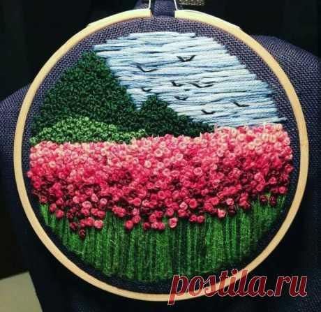 Искусство вышивки французским узелком