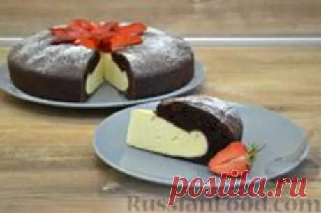 Шоколадный пирог-ватрушка с творожной начинкой - Домашняя выпечка - медиаплатформа МирТесен