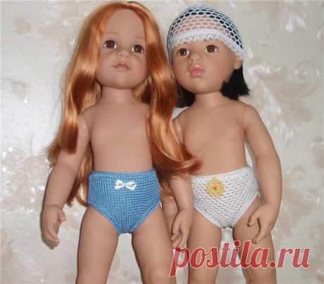 Трусешки для кукол Gotz / Одежда и обувь для кукол своими руками / Бэйбики. Куклы фото. Одежда для кукол