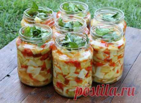 Салат из кабачков на зиму   Кухня оригинальных блюд   Яндекс Дзен