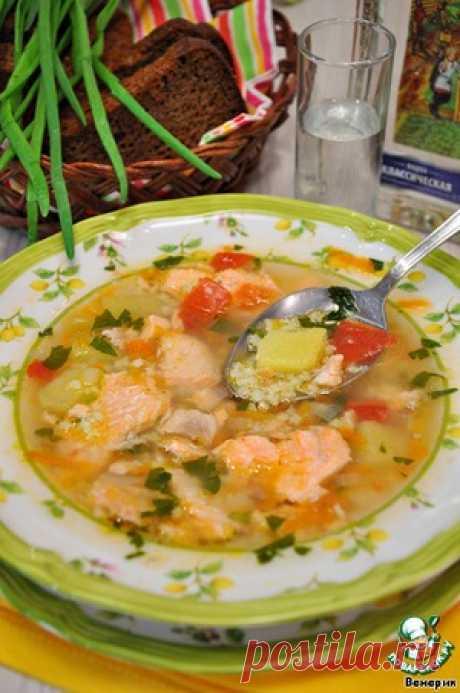 Рыбный суп из сeмги с овощами и пшеном - кулинарный рецепт