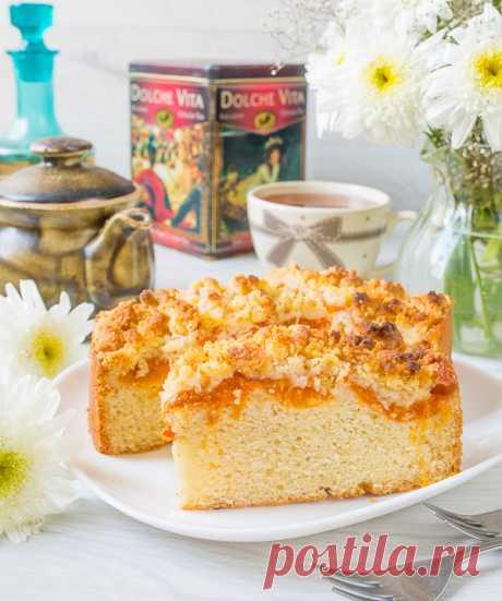 Абрикосовый пирог со штрейзелем на творожном тесте - вкусные проверенные рецепты, подбор рецептов по продуктам, консультации шеф-повара, пошаговые фото, списки покупок на VkusnyBlog.Ru