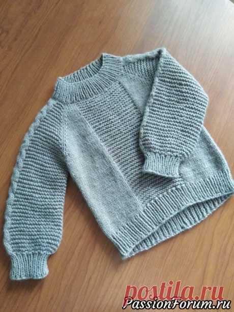 Свитер для мальчика | Вязание спицами для детей