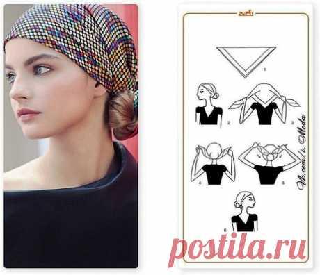(+1) тема - 6 стильных способов завязать платок | КРАСОТА