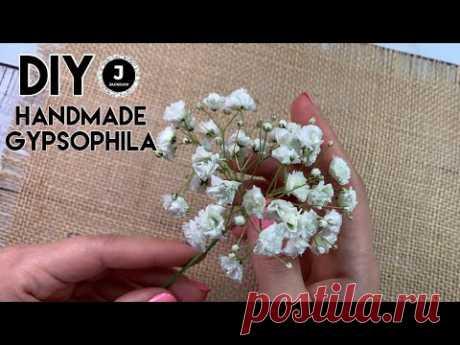 DIY. Handmade Gypsophila from foamiran. МК Реалистичная Гипсофила из зефирного фоамирана.