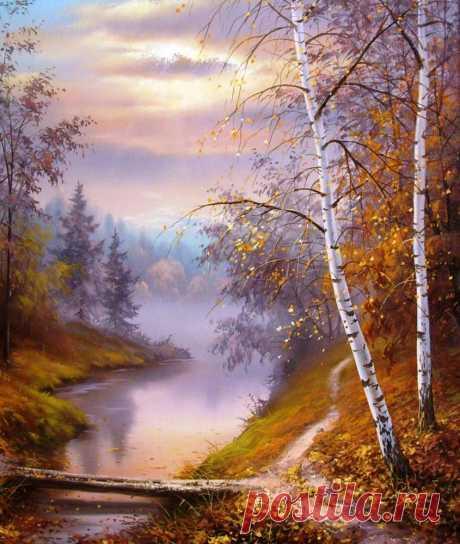 La belleza de la naturaleza bielorrusa. Los paisajes del pintor Trpevski Slobodan \u000d\u000aLos paisajes del pintor Trpevski Slobodan bielorruso\u000d\u000a\u000d\u000aEl oro otoñal \u000d\u000aEl oro del otoño – la prueba superior, es demostrado … cuántas palabritas hermosas sobre el otoño es dicho. Hasta cuando inunda con las lluvias, triste, el Otoño en las lágrimas en …