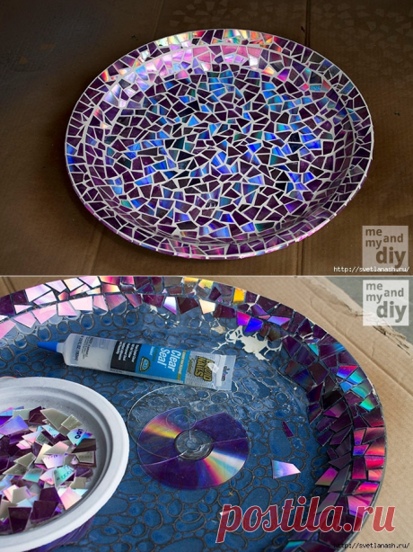 """Мозаика: переделка старого """"блюда"""" — Сделай сам, идеи для творчества - DIY Ideas"""