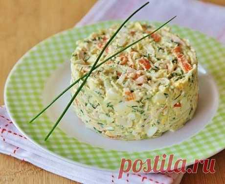 салатик Ингредиенты: Крабовые палочки -... / Здоровье / салаты / Pinme.ru / Алеся Попель