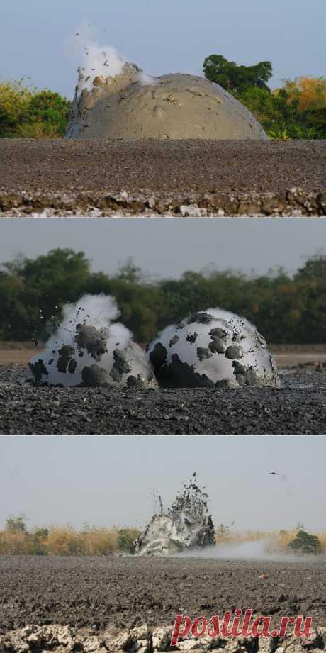 Грязевой Взрыв | В мире интересного