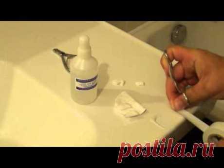 Лечение грибка ногтей перекисью водорода - YouTube