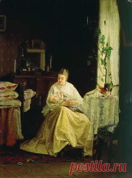 Как появлялись на свет и росли дети в Российской империи. Картины российских художников.