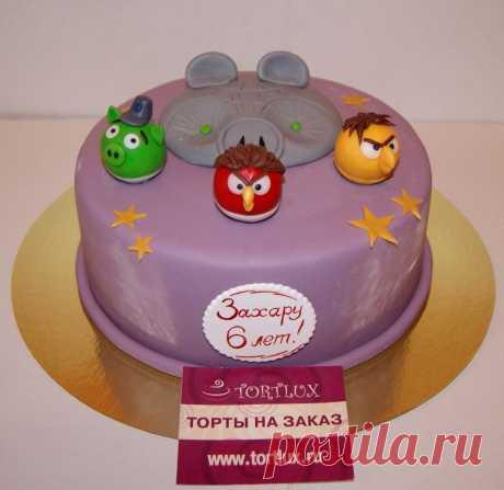 """Детский торт """"Грозные птицы"""".Вес 3 кг."""