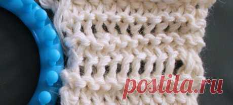 Учимся вязать на луме (Loom knitting). Урок четвертый: второй способ вязания удлинённых петель