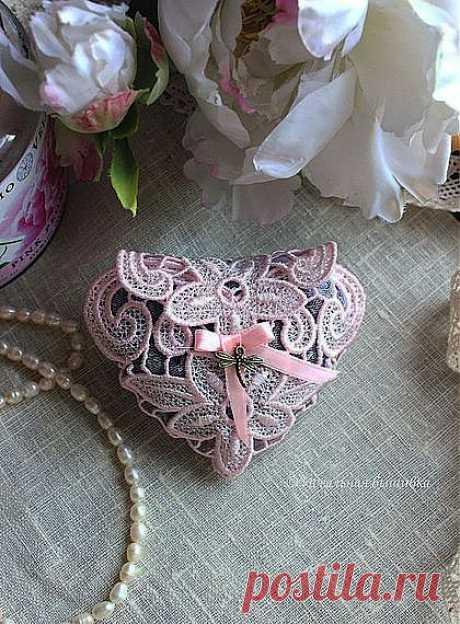 """Саше с лавандой """"Кружевное сердце"""" - сердце,кружево,кружевное сердце,саше с лавандой"""
