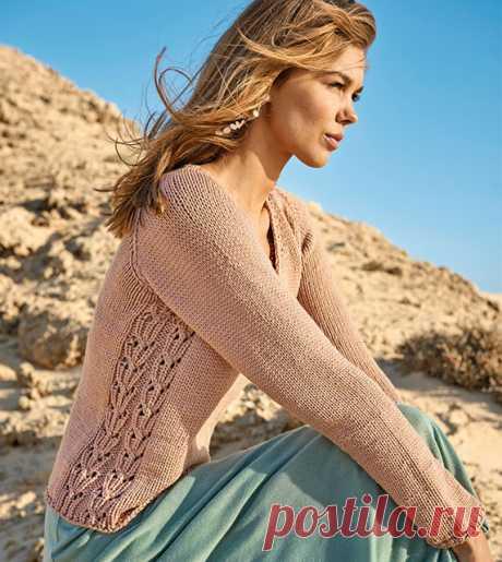 Женские пуловеры с боковой вставкой спицами – 4 схемы вязания с описанием