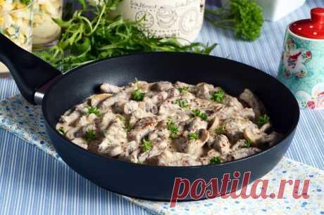Бефстроганов с грибами рецепт с фото пошагово и видео - 1000.menu