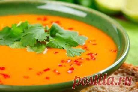 Томатный суп из консервированных помидоров - пошаговый рецепт с фото.