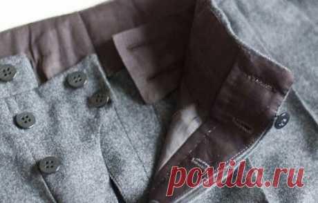 Застёжка на мужских брюках (подборка)