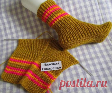 Original socks on two spokes