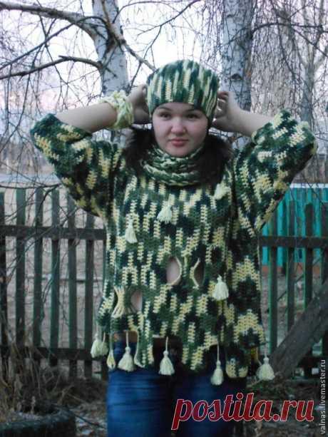 """Купить Свитер """"Модный штрих""""- оверсайз /Авт.раб. - абстрактный, свитер, свитер женский"""