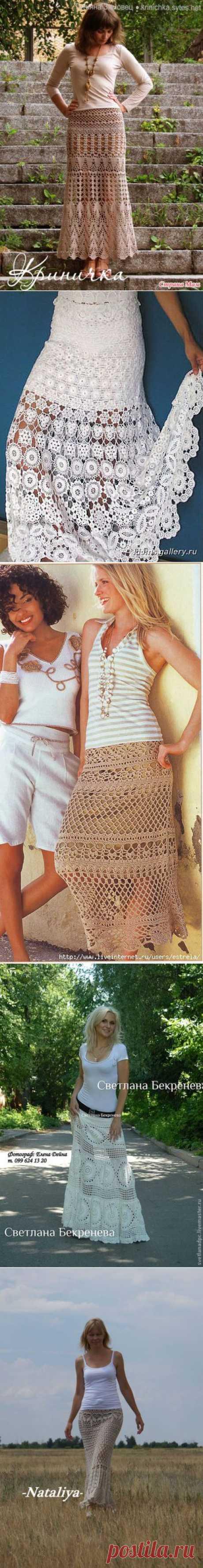 Длинные летние юбки - много и разные...