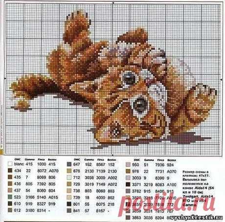 Схема для вышивки крестом. Поиграй со мной - Животные - Каталог статей - Бесплатные схемы для вышивки крестом