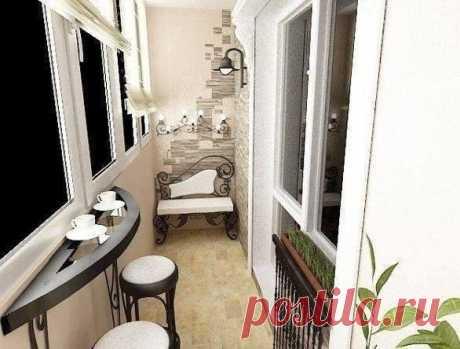 Даже узкий балкон можно отлично декорировать