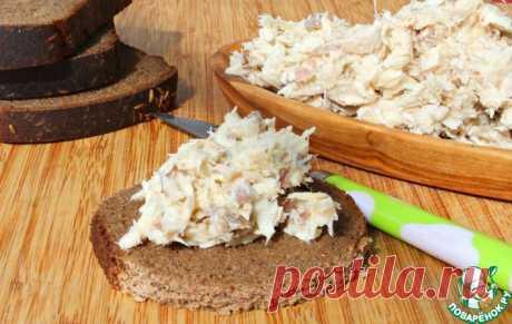 Сливочный паштет из отварной скумбрии Кулинарный рецепт