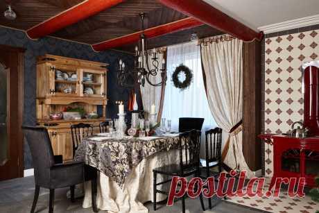 Интересный пример новогоднего декора в подмосковном доме - Roomble.com