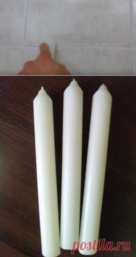 Совет: Протрите свечой межплиточные швы в ванной и... — Полезные советы