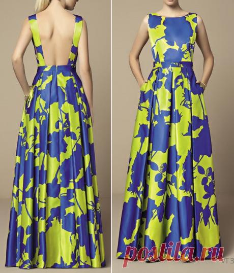 Платье в пол с обнаженной спиной / Простые выкройки / ВТОРАЯ УЛИЦА