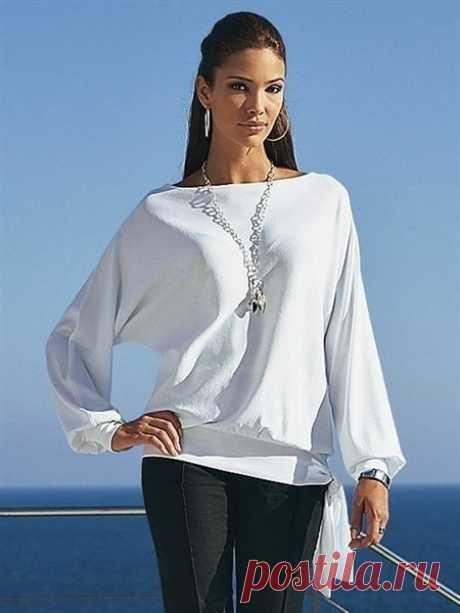 Шьем блузку с цельнокроеными рукавами