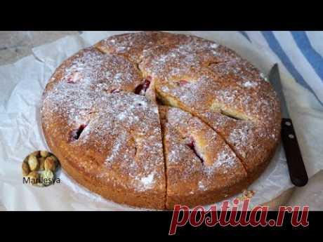 Простой ягодный пирог с клубникой.Идеальное тесто на пироги!Simple Cake with strawberries