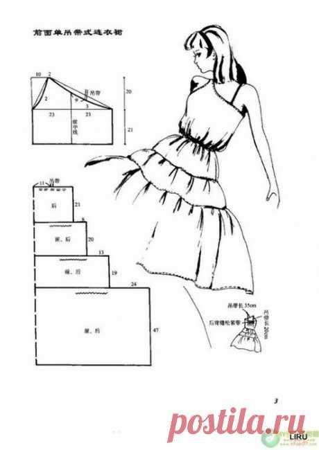 Шьем простые летние платья. Выкройки 100 моделей!!!