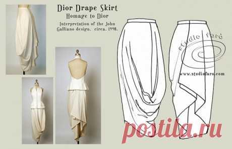 Юбка в стиле Бохо (Dior Drape Skirt) Interpretaton of the Dior