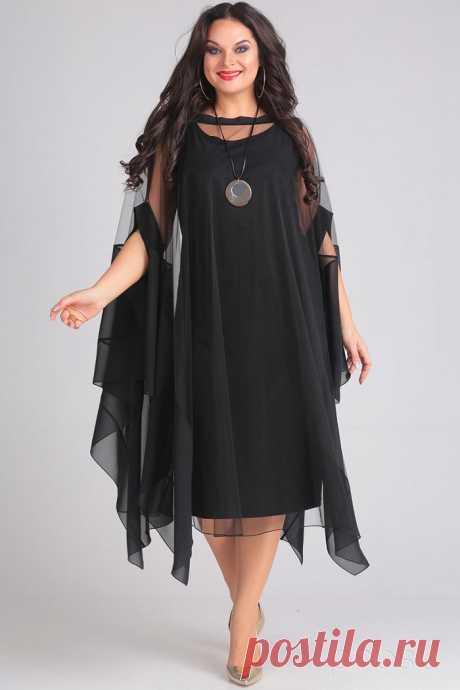 Платье Andrea Style 00128 черный - Интернет-магазин Presli.ru
