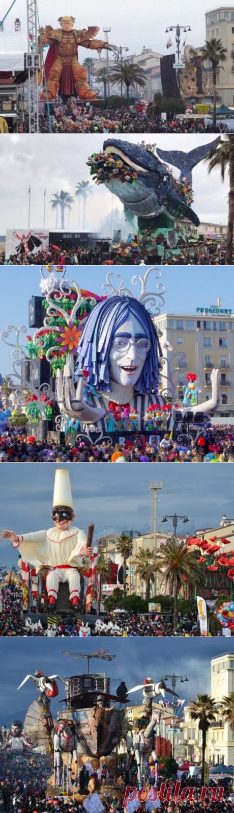 Виареджо: Трамп пожаловал на карнавал 2019 в виде чучела. Видео - новости Италии